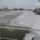 port in winter